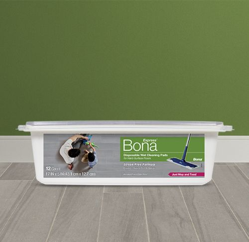 Bona Disposable Wet Cleaning Pads for Hard-Surface Floors