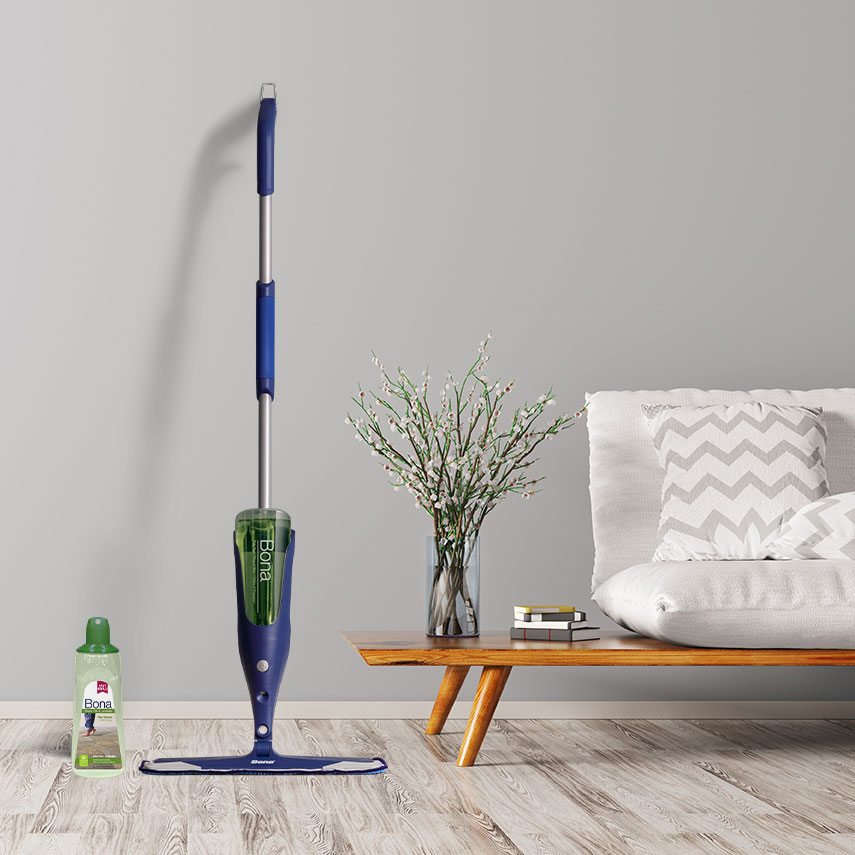 <p>It&rsquo;s best to clean rooms from the top down so that any dust and debris won&rsquo;t find their way onto a newly-cleaned floor.</p><br/>
