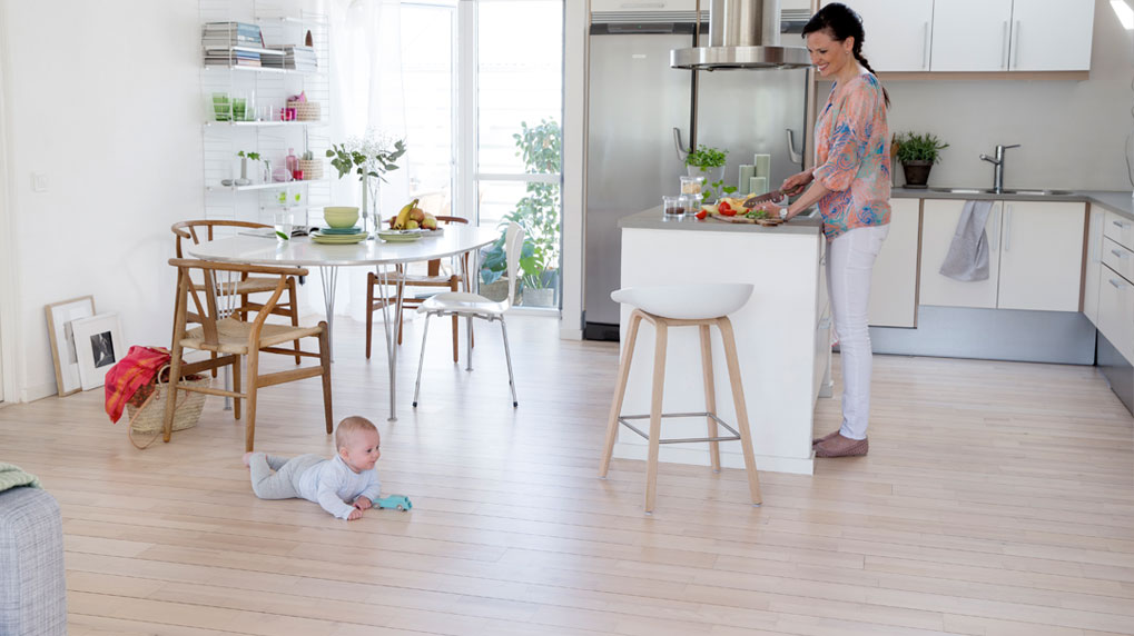 Floors are the largest surface area in the home. Improve the health of your home by starting with the floors.