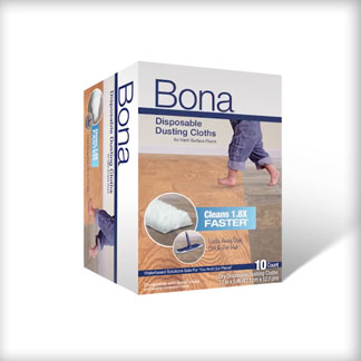 <p>At 0:07, see the difference in the 3D design of Bona Disposable Dusting Cloths.</p><br/>