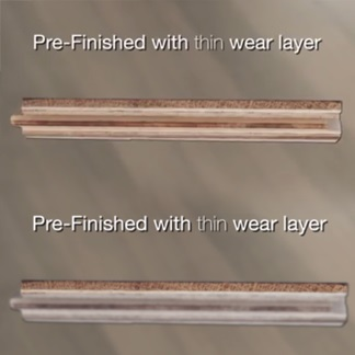 <p>Jump to 0:56 to learn about the importance of pre-finished flooring&rsquo;s wear layer.</p><br/>