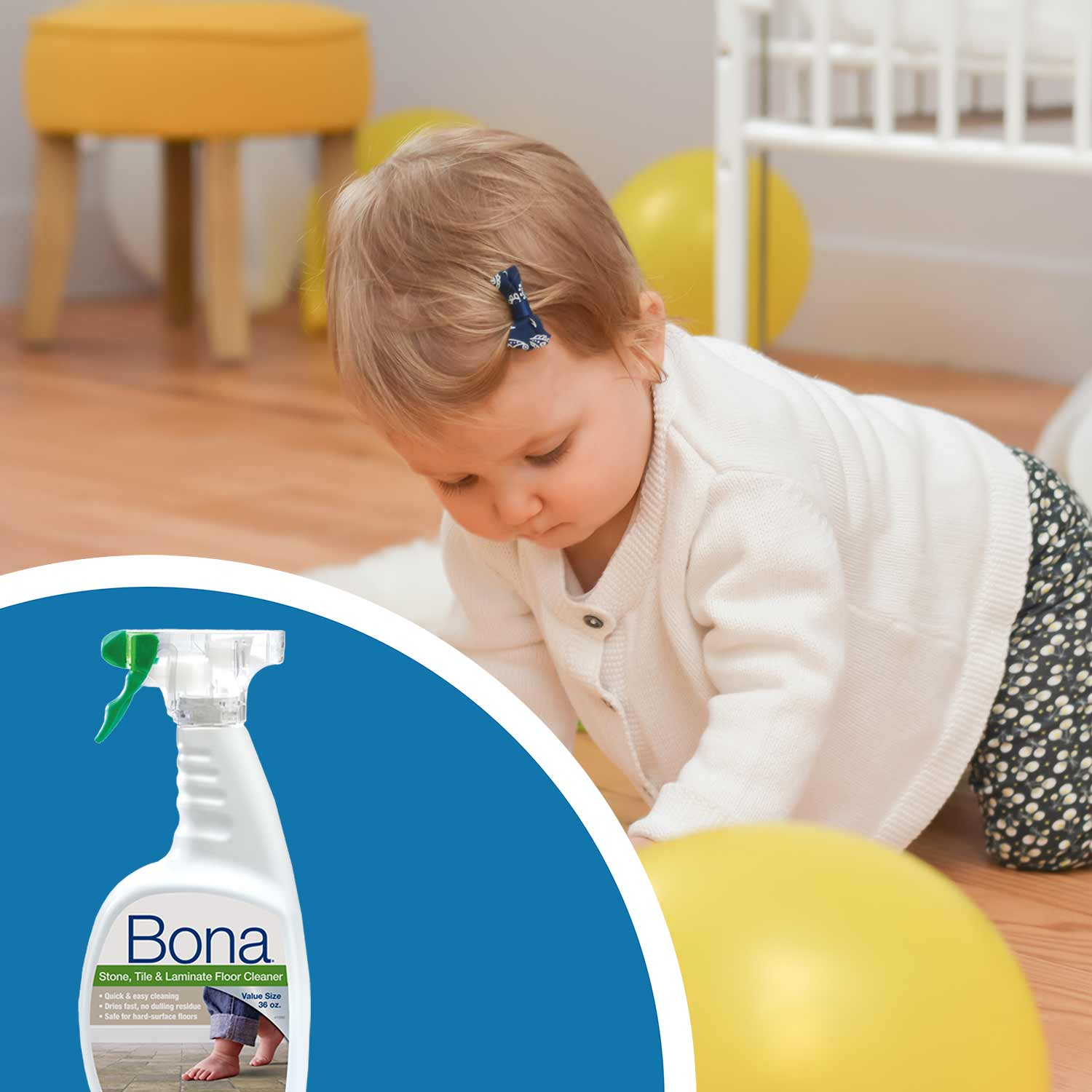 "<p><strong>The <a href=""https://us.bona.com/products/stl-cleaner-36oz.html"">Bona Stone, Tile & Laminate Cleaner </a>is an excellent choice for cleaning luxury vinyl flooring and other hard surface floors. </strong>Safe to use around pets and children, our floor cleaner dries fast and leaves no residue&mdash;the perfect choice when you don&rsquo;t want your floors to get in the way of your life!</p><br/>"