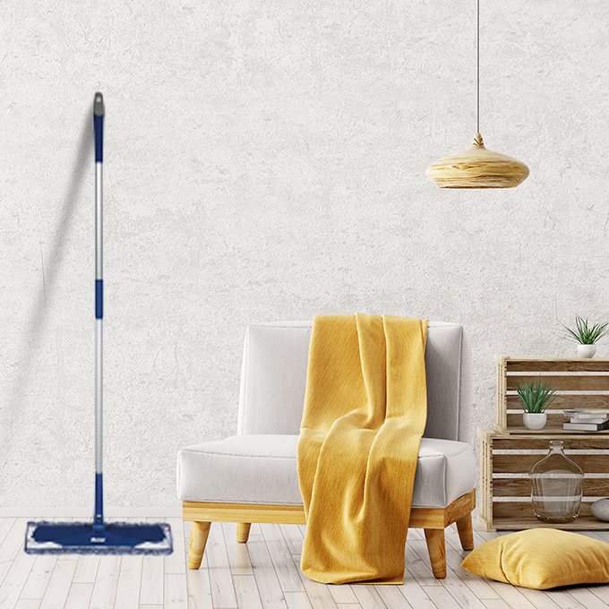 <p>Use a microfiber mop to dust your floors. Using a floor mop will gently remove the initial layer of dust and debris on floors. Vacuums are ok, but all the extra weight and tools can scuff or damage a floor. If using a vacuum, avoid using the beater bar and use a bare floor attachment/setting.</p><br/>