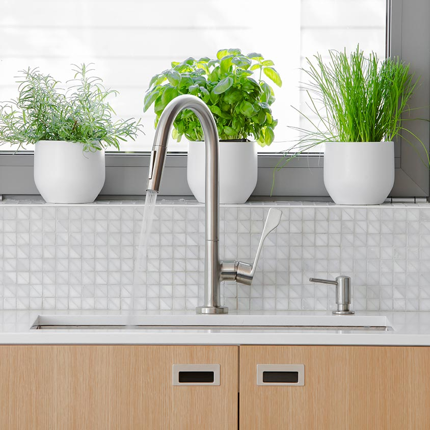 <p>Upgrading light or sink fixtures is another go-to improvement solution that will immediately impact the look of a room. With the wide range of fixtures available, it&rsquo;s easy to find a budget-friendly option.</p><br/>